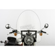 22 in. Clear SS-30 Classic Windshield w/Black Quick Release Hardware - SS-30-22CWQB