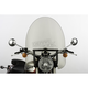 22 in. Smoke SS-30 Classic Windshield w/Black Quick Release Hardware - SS-30-22TFQB