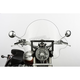 16 in. Clear SS-32 Falcon Windshield w/Black Quick Release Hardware - SS-32-16CFQB
