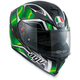 Black/Green K-5 S Hurricane Helmet