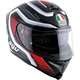 Black/Red K-5 S Firerace Helmet