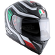 Black/White/Green/Red K-5 S Firerace Italy Helmet