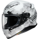 Matte White/Black/Gray RF-1200 Ruts TC-6 Helmet