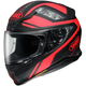Matte Black/Red RF-1200 Parameter TC-1 Helmet