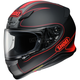Matte Black/Hi-Viz Red RF-1200 Flagger TC-1 Helmet