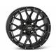 Matte Black Front or Rear 16 x 7 Hurricane Wheel - 1621965017B