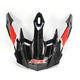 Black/Red/White FX-41DS AT Visor - 0132-1040