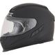 Flat Black FX-105 Solid Helmet