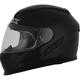 Gloss Black FX-105 Solid Helmet