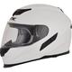 White FX-105 Solid Helmet