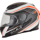 Orange FX-105 Thunderchief Helmet