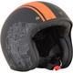 Flat Black/Orange FX-76 Raceway Helmet