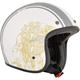 Flat White/Gray  FX-76 Raceway Helmet