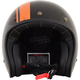 Gloss Black/Orange FX-76 Raceway Helmet