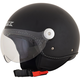 Flat Black FX-33 Scooter Helmet