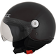 Gloss Black FX-33 Scooter Helmet