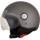 Frost Gray FX-33 Scooter Helmet