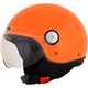 Safety Orange  FX-33 Scooter Helmet