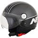 Gloss Black/Silver Veloce FX-33 Scooter Helmet
