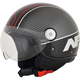 Gloss Black/Red Veloce FX-33 Scooter Helmet
