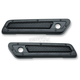 Satin Black Mesh Saddlebag Hinge Covers - 6510