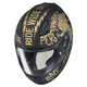 Semi-Flat Black/Gold CL-17 Rebel MC-9F Helmet