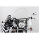 17 in. Clear SS-30 Classic Windshield w/Chrome Quick Release Hardware - SS-30-17CFQ