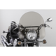 17 in. Smoke SS-30 Classic Windshield w/Chrome Quick Release Hardware - SS-30-17TFQ