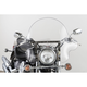 16 in.Clear SS-32 Falcon Windshield w/Chrome Quick Release Hardware - SS-32-16CWQ
