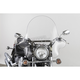 20 in. Clear SS-32 Falcon Windshield w/Chrome Quick Release Hardware - SS-32-20CWQ