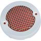 Chrome Mesh Bullet Turn Signal Lens Bezel w/Amber Lens - 6516