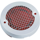 Chrome Mesh Bullet Turn Signal Lens Bezel/Red Lens - 6517