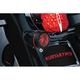 Gloss Black Mesh Bullet Turn Signal Lens Bezel w/Red Lens - 6547