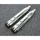 Chrome 4-1/2 in. Mk45 Slip-on Mufflers w/Black Contrast Machined Thruster End Caps - 550-0664
