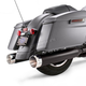 Jet-Hot Black 4-1/2 in. MK45 Slip-on Mufflers w/Chrome Machined Thruster End Caps - 550-0667