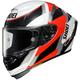 White/Red/Black X-Fourteen Rainey TC-1 Helmet