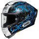 White/Black/Blue X-Fourteen Kagayama 5 TC-2 Helmet