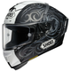 Matte White/Black/Silver X-Fourteen Kagayama 5 TC-5 Helmet