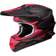 Matte Black/Red VFX-W Hectic TC-1 Helmet