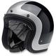 Gloss Black/Silver Tracker Bonanza Helmet