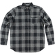 Heather Gray/Gray Explicit Long-Sleeve Flannel Shirt