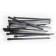 Black 8 in. Fat-Width Stainless Steel Tie Wraps - CPP/9172-20