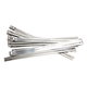 Silver 8 in. Ladder Style Fat-Width Stainless Steel Tie Wraps - CPP/9176-20