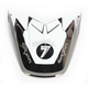 Black/Chrome/White Visor for Moto-9 Flex Seven Rogue Helmets - 7081529