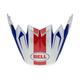 White/Blue/Red Visor for Moto-9 Flex Vice Helmets - 7081533