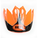 Fluorescent Orange /Black Visor for MX-9 Stryker Helmets - 7081610
