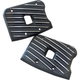 Black Cut Ribsters Rocker Box Covers - RC13/R/BC