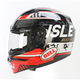 Black/Red Qualifier DLX Isle of Man Helmet