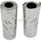 Chrome +2 in. Flame Fork Slider Covers - 0411-0147