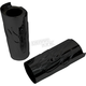 Black +2 in. Flame Fork Slider Covers - 0411-0148